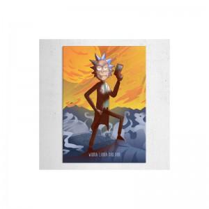 Poster en Métal Rick By Retina Creative