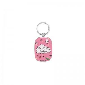 Porte-clés OPAT La clé du bonheur rose