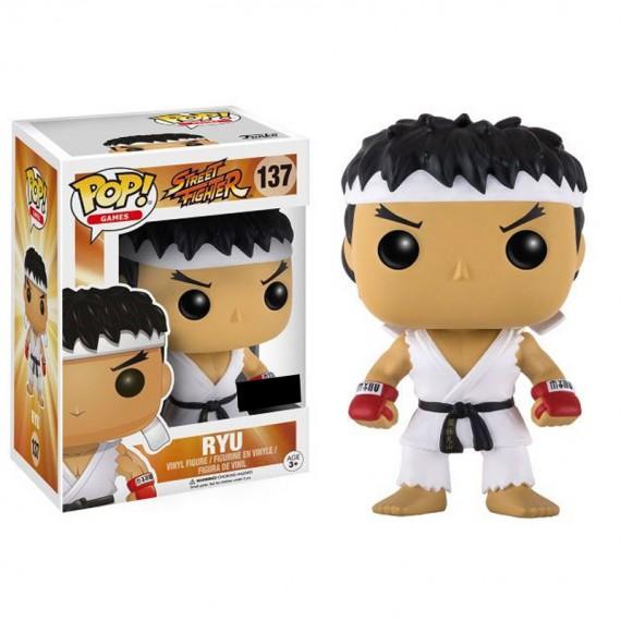 Figurine POP Street Fighter Ryu White Headband (Exclusive)