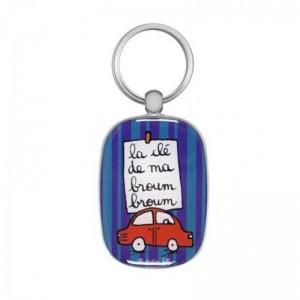 Porte-clés OPAT Broum broum violet/bleu