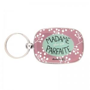 Porte-clés OPAT Madame Plus que parfaite rose