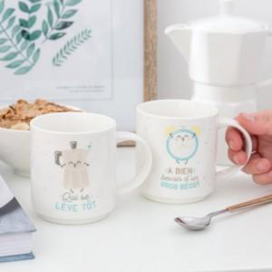 Set de 2 mugs emboîtables pour les couples complémentaires