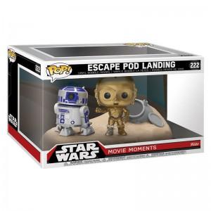 Figurine Star Wars - Bi-Pack Escape Pod Landing R2-D2 & C-3PO Desert Exclusive Pop