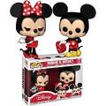 Figurine Disney - Minnie & Mickey Exclusive Pop 10cm - Spécial Saint-Valentin