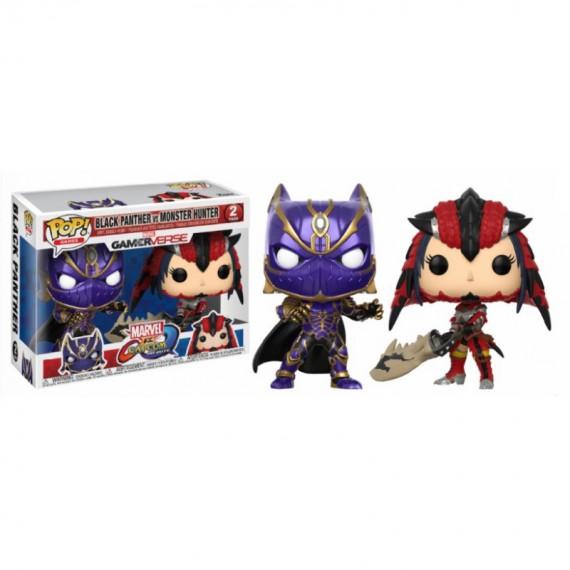 Figurine Marvel VS Capcom - Black Panther VS Monster Hunter Pop 10cm