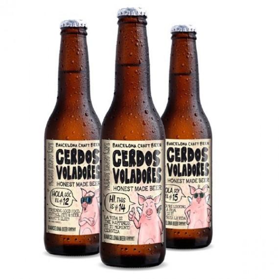 Bière blonde - CERDOS VOLADORES 0.33L