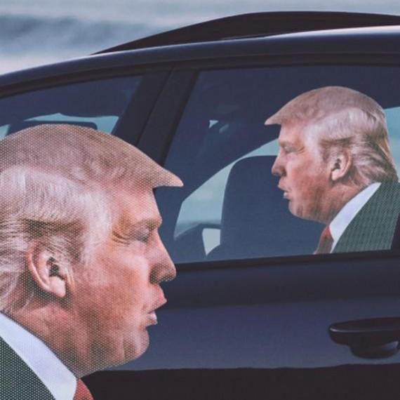 Sticker vitre de voiture Donald Trump