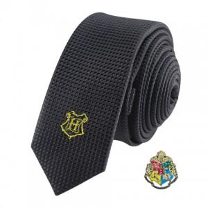 Cravate Deluxe Poudlard avec pin's - Harry Potter