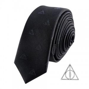 Cravate Deluxe Les Reliques de la Mort avec pin's - Harry Potter