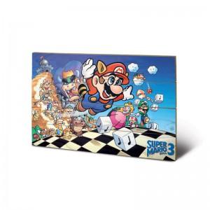 Tableau en Bois Super Mario Bros 3