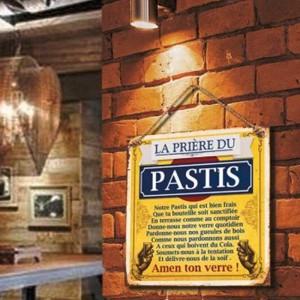 """Plaque murale """"La prière du Pastis"""""""