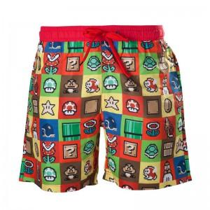 Short de Bain Super Mario (Icônes)