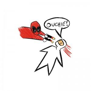 Tshirt Deadpool - Ouchie
