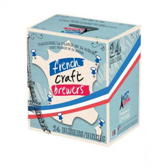 Coffret cadeau 24 Bières + 1 Verre - BOX 100% Française