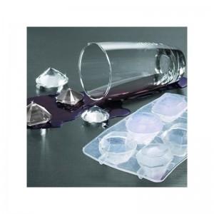 Moule en silicone pour glaçons et chocolats en forme de diamants