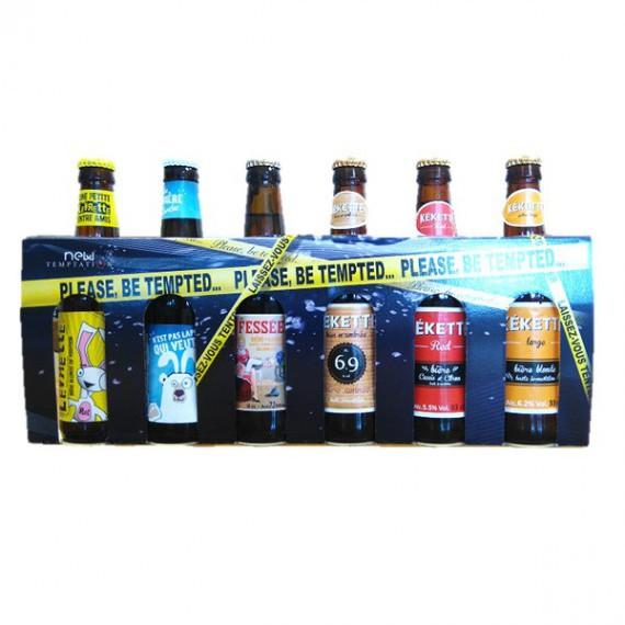 Coffret humoristique 6 bouteilles de bière