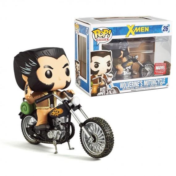 Figurine X-Men -Wolverine en moto