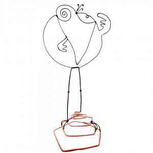 Figurine faite main - Style Shadok toqué