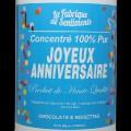 """Sentiments en boîte - """"Joyeux Anniversaire"""" chocolaté"""
