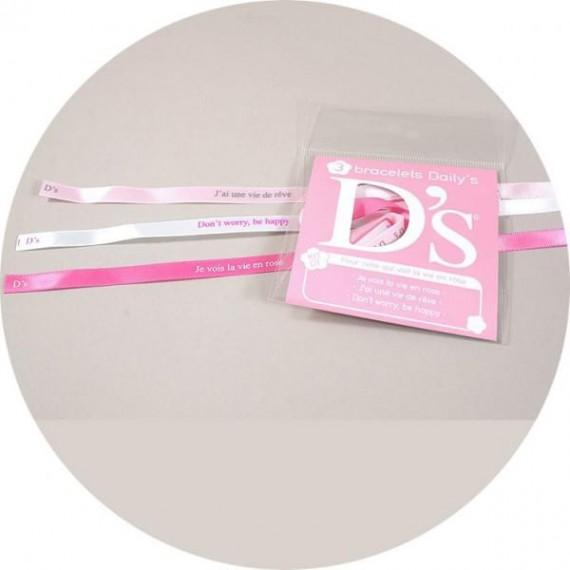 """Bracelets """"Pour celle qui voit la vie en rose"""" - Daily's Fortune"""