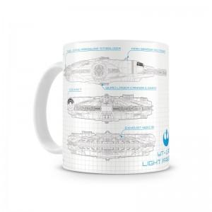 Mug Star Wars Blueprint Millenium Falcon