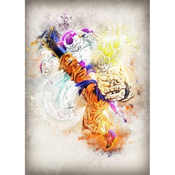 Panneau en Métal - Goku et Frieza