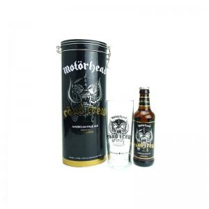 COFFRET MOTORHEAD ROAD CREW - Bière Blonde 0.33L + 1 verre