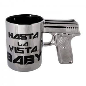 Mug pistolet noir en céramique