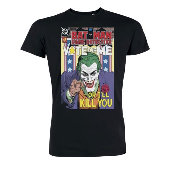Tshirt DC Comics Batman - Joker Vote for me