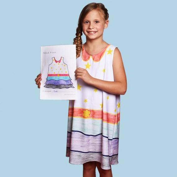 Robe de fille - Personnalisée à partir d'un dessin