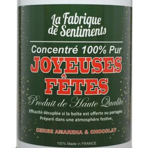 """Sentiments en boîte - """"Joyeuses fêtes"""" au chocolat"""