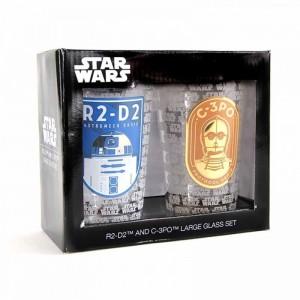 Set de 2 Verres Star Wars - R2D2 et C3PO