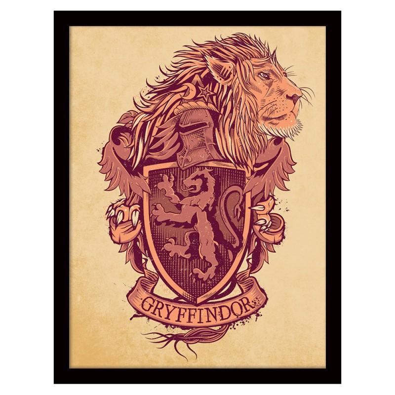 Cadre Harry Potter Blasons Des Maisons Commentseruiner
