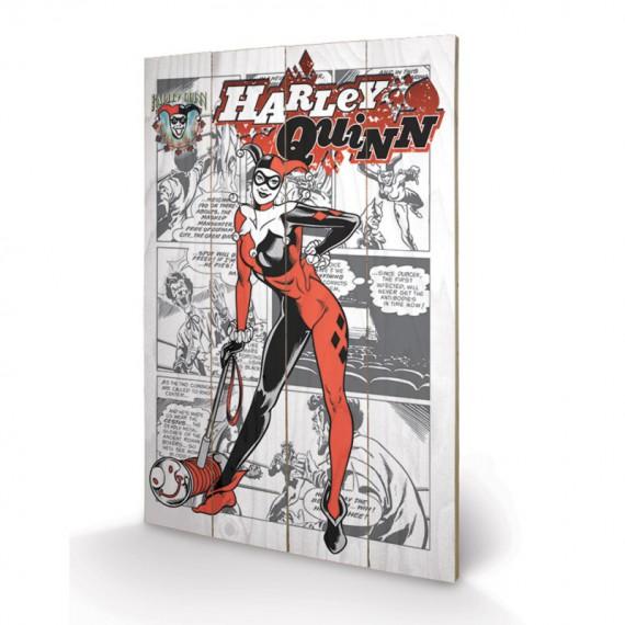 Panneau en bois Harley Quinn Arkham City