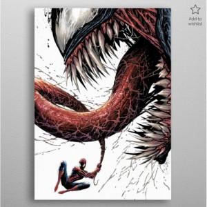 Panneau en Métal Marvel - Venom Epic Battle