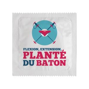 Préservatif - Flexion, extension, planté du baton