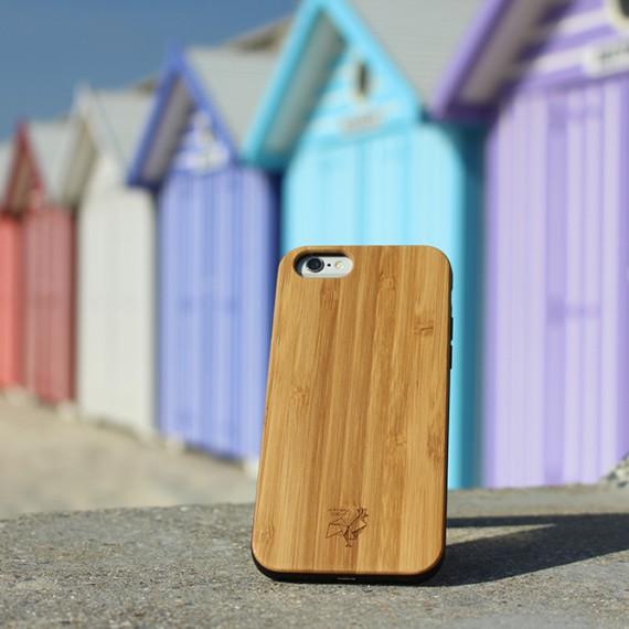 Coque smartphone en bois authentique Bambou