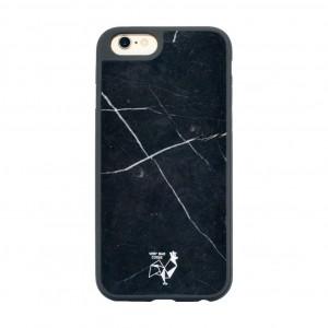 Coque smartphone en marbre noir véritable