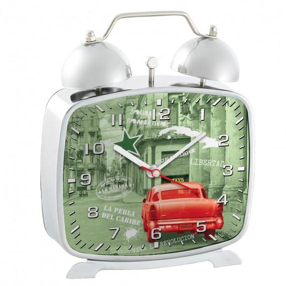Horloge / Réveil en métal - villes du monde