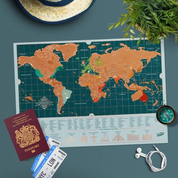 Carte du monde à gratter Backpacker édition