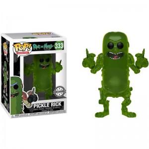 Figurine POP Rick et Morty Translucent Pickle Rick Exclusive)