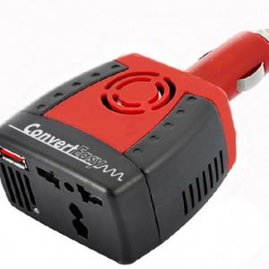CONVERTEASY-Convertisseur compact de voiture 12v/220v + USB