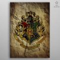 Poster en Métal Harry Potter Hogwarts House Crest