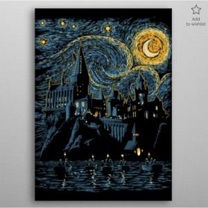 Poster en Métal Harry Potter Starry School
