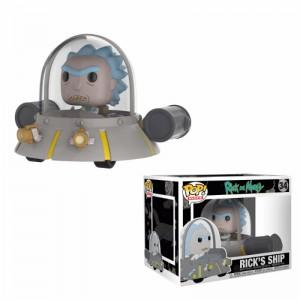 Figurine POP Rides Rick et Morty Space Cruiser (Exclusive)