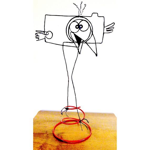 Figurine faite main - Style Shadok en fou rire