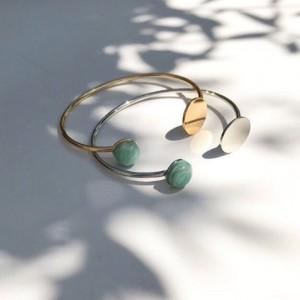 Bracelet jonc doré ou argenté - Simone