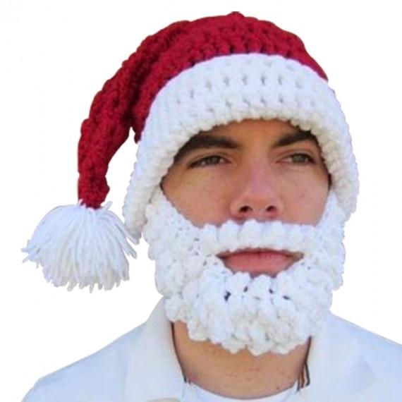 Bonnet à barbe déguisement de Père Noël