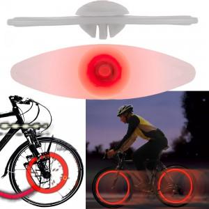 Lampes roues de vélo - Leds rouge
