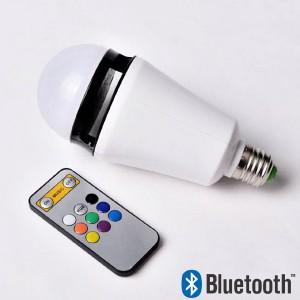 Ampoule-enceinte multicolore contrôlée par smartphone et bluetooth